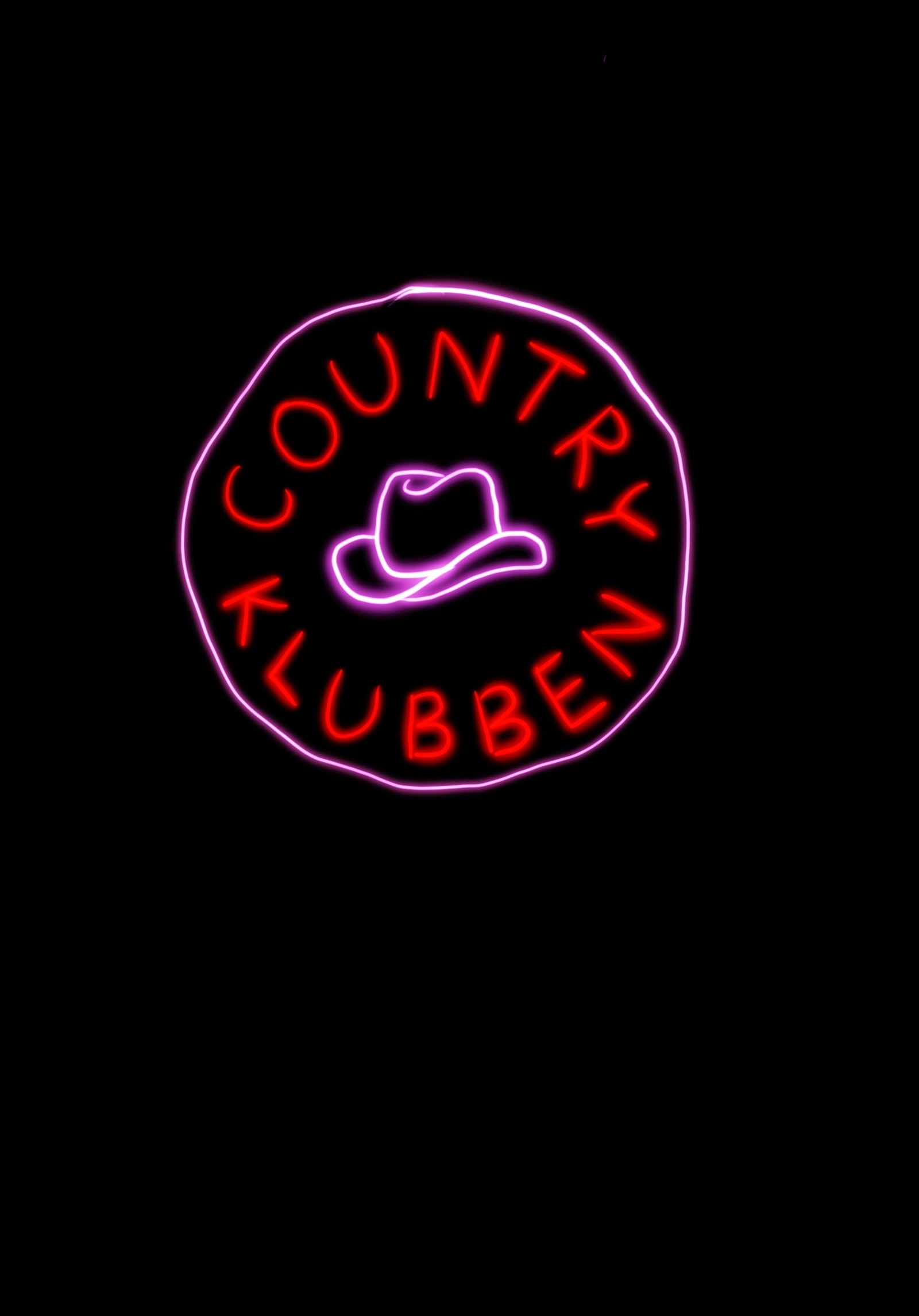 Neon sign for Countryklubben by Josefin Eklund