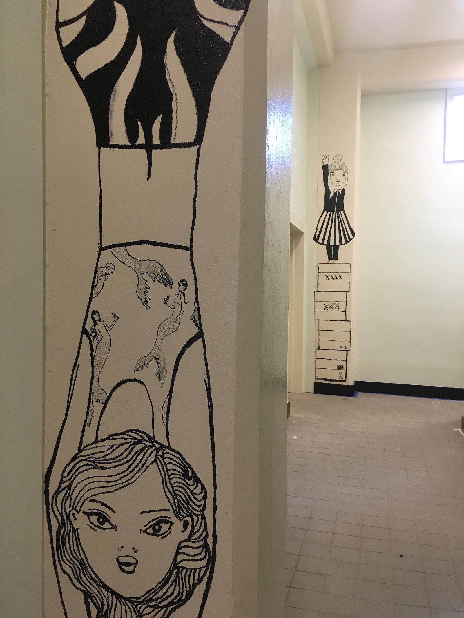 Bespoke murals at Degrees Palto by Anne Bundgaard