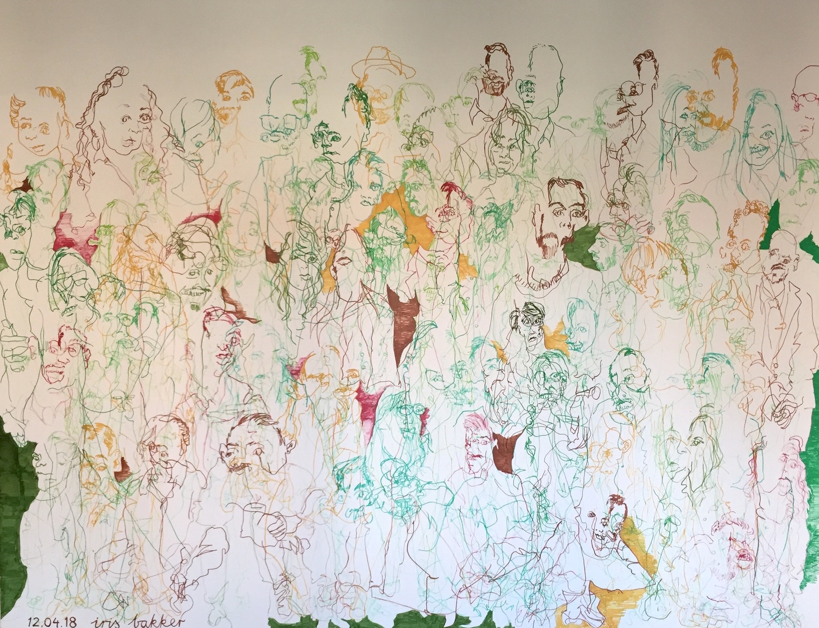 Bespoke mural at Dentsu Aegis Network by Iris Bakker