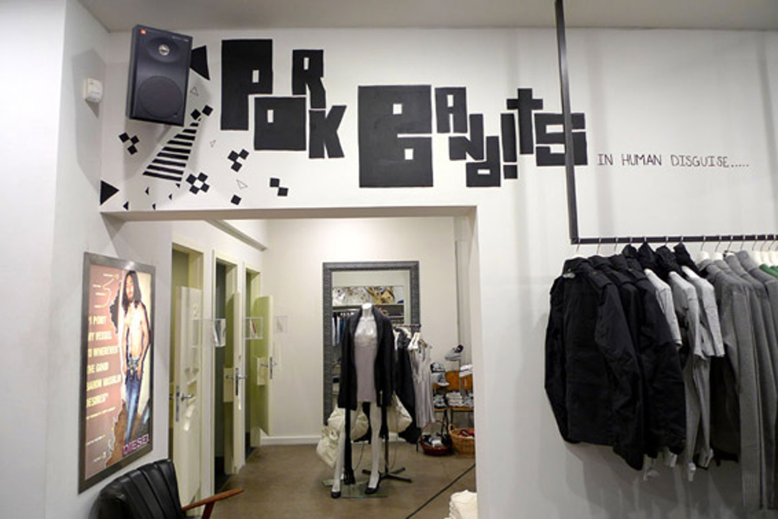 Bespoke murals at Diesel store in Aarhus by Ruth Crone Foster
