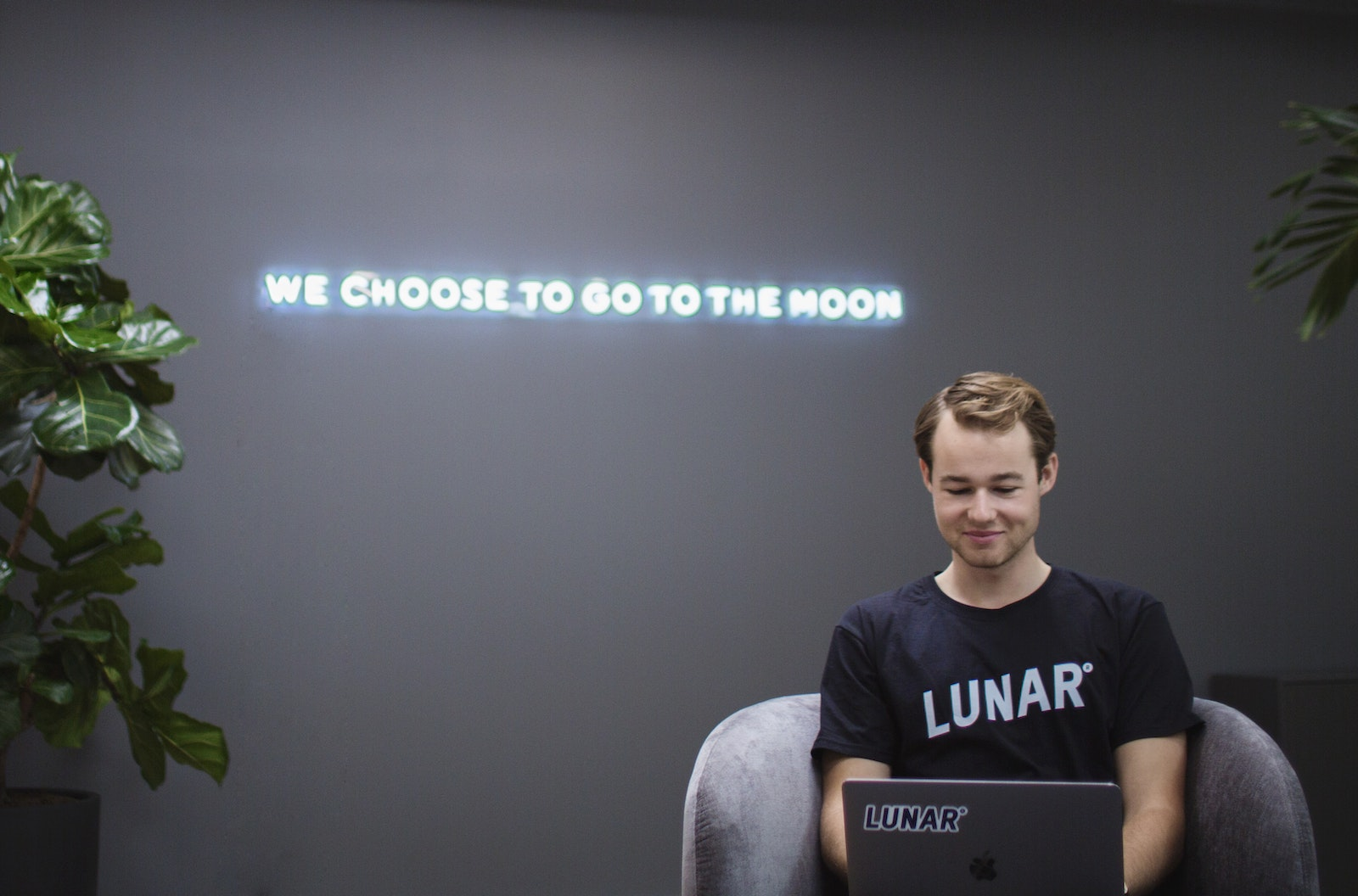 Neon art installations at Lunar's new Copenhagen based office