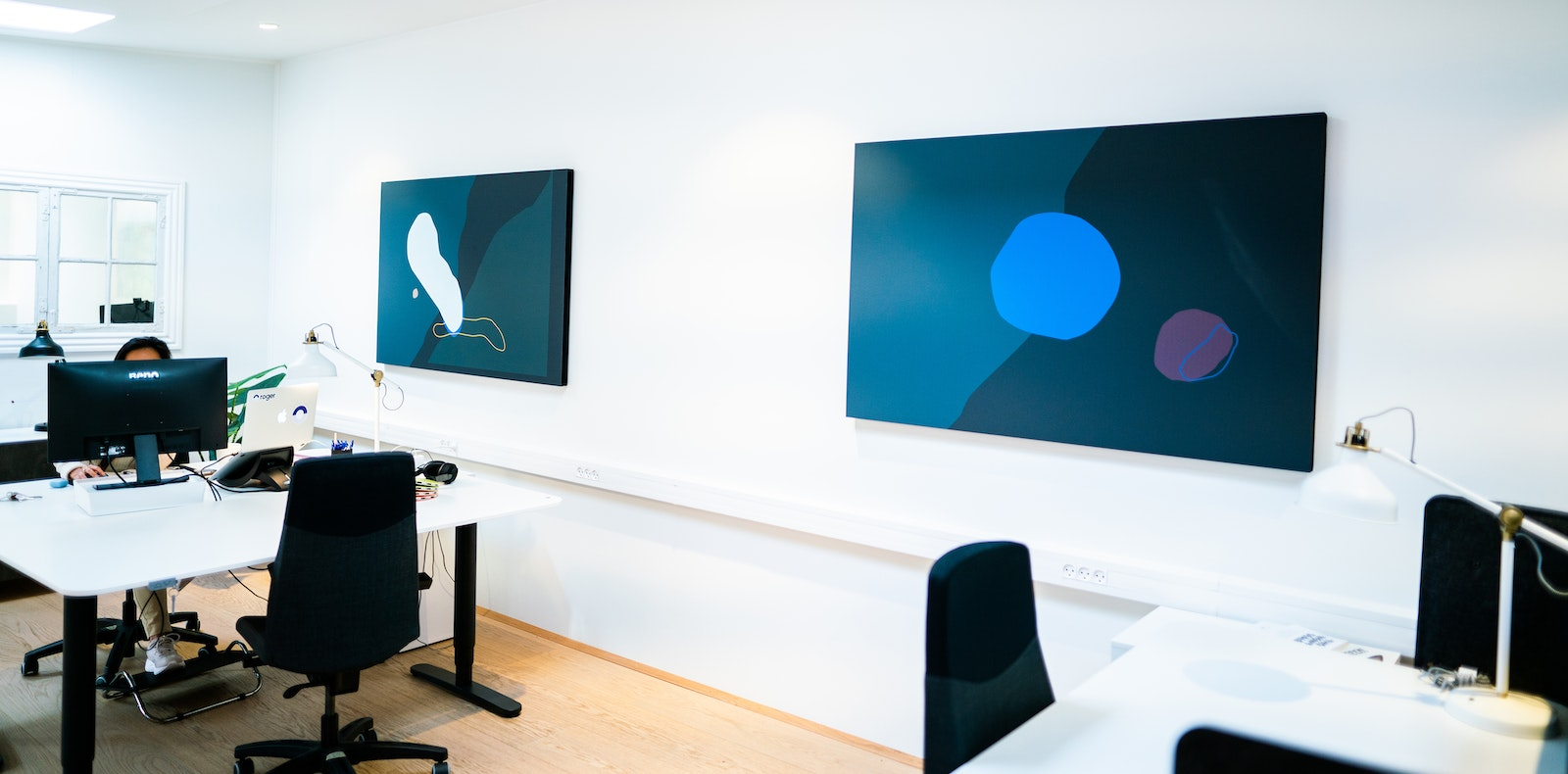 Acoustic panels over workstations