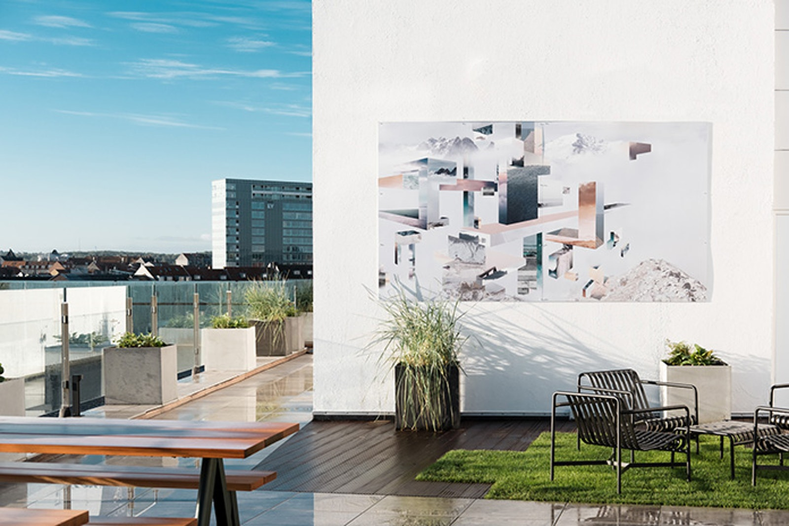 Bespoke murals at Salling Rooftop by Ruth Crone Foster