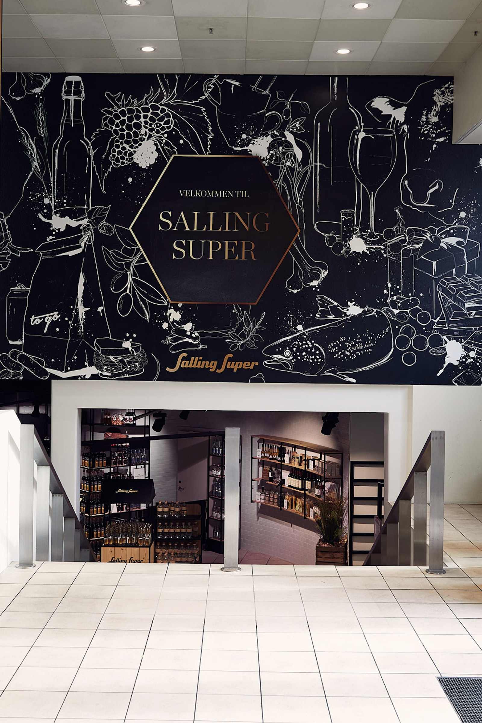 Bespoke murals at Salling Super by Ruth Crone Foster